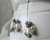 Pearl serendipity earrings, freshwater pearls