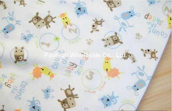 Kawaii Baby Knit Cotton Fabric - Baby Animals
