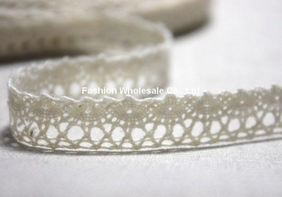 5 Yards Cotton Crochet Lace - Kathy, Beige (Free Bobbin Cardboard)