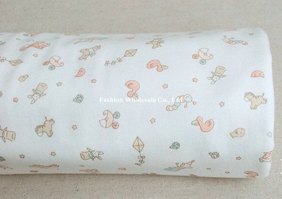 Kawaii Baby Knit Cotton Fabric - For My New Born Baby