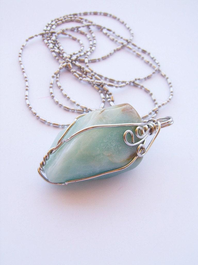 55cm russian amazonite necklace