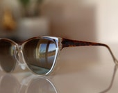 Vintage Cat Eye Sunglasses Brown/ White/ Clear by Polaroid . Gift Certificates Apply. RESERVED 4 RACHEL