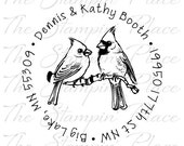 Custom Address Stamp - Cardinals Circle Address PR245