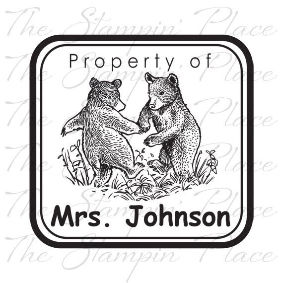 Personalized Custom Stamp - Property of / Bears PS217