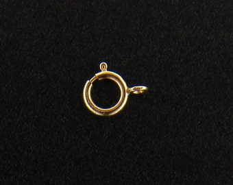 14Kt Gold Filled 6mm Spring Ring With Fixed Open Ring - 10pcs (2665) Wholesale Price
