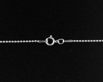 Ball Chain with clasp Sterling Silver 1.5mm 22 Inch  - 5pcs (3099) Neck chain