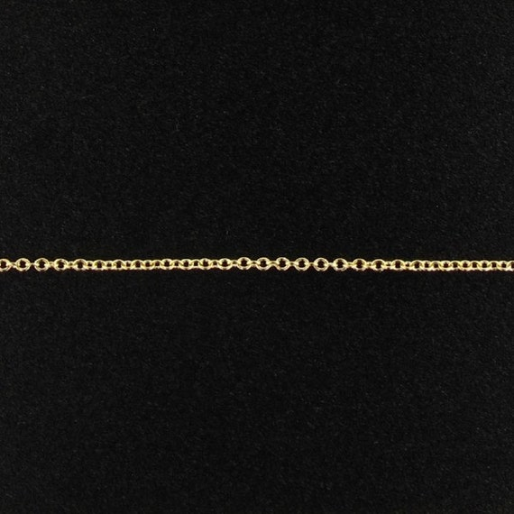 FREE SHIPPING- 14Kt Gold Filled 1x1.2mm Cable Chain - 100ft (2474-100) Bulk Chain Discounted Price