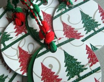 Free Ship | Gift Tags - Glitter Tree