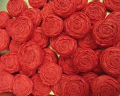 Paper Rosettes - Red, Set of 15 - Custom Colors Available
