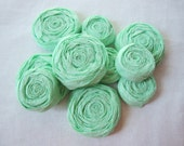 Paper Flowers - Set of 15 - Seafoam Green Paper Rosettes - Mint Green Custom Colors Available