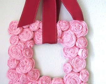 Square Paper Rose Wreath, 8 x 8 square - YOU CHOSE COLORS - ships in 3 weeks