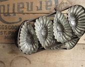 Tart Tins, Set of Two Antique Metal Tart Tins