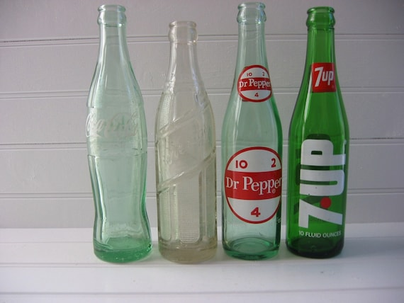 Vintage Lot of Soda Pop Bottles