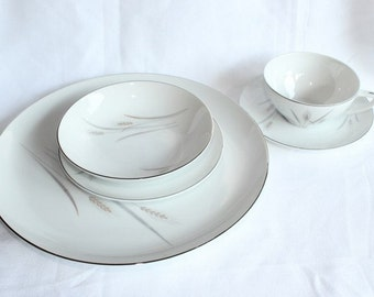 Platinum Wheat Fine China, Platinum Wheat China Place Setting