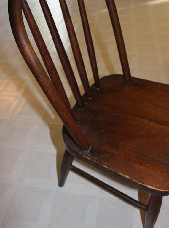 Vintage Child's Oak Chair, Time Out Chair, Child's Chair