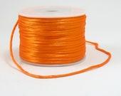 Satin Rattail Cord 50 Yard Spool Orange