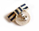 Marinette Nautical Brooch Pin Medal