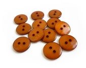 Caramel Brown Buttons, 13 Vintage Buttons