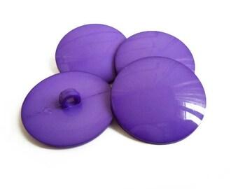 Purple Vintage Big Buttons (4 pcs)