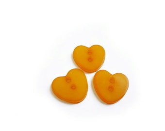 Tangerine Heart Vintage Buttons