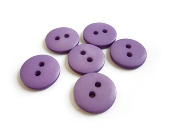 Purple Buttons, 6 Vintage Buttons