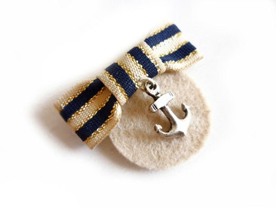 Marinette Nautical Brooch Pin Medal