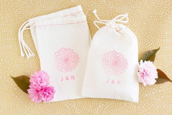 Floral Wedding Favors Bags - Mum Wedding Favors - Party Favor Bags
