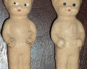 2 Vintage Small Bisque Dolls Now On Sale