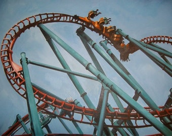 Rollercoaster Original Oil Paintings