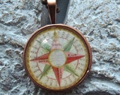 Vintage Mariners Compass Pendant with Chain