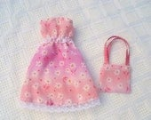 Barbie Dress in Pink with Daisies & Purse