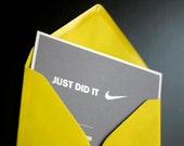 "Printable reception /sports invitation set - ""Just did it"""