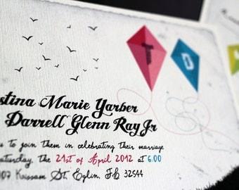 "Kites wedding invitation set with monograms/ DIY suite / ""Kites"""