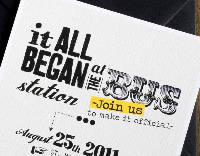 Funny Wedding invitations with our story / Printable template