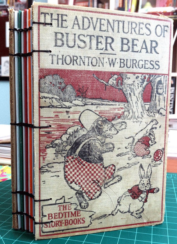 Blank Art Journal From Vintage 1928 Children's Book Adventures of Buster Bear