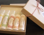 Lip Balm Gift Set of 5 Lip Balms - Your choice of Flavors