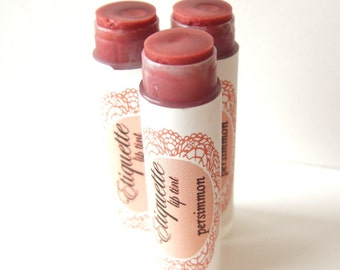 Persimmon Lip Tint - Tinted Lip Balm - Copper Bronze