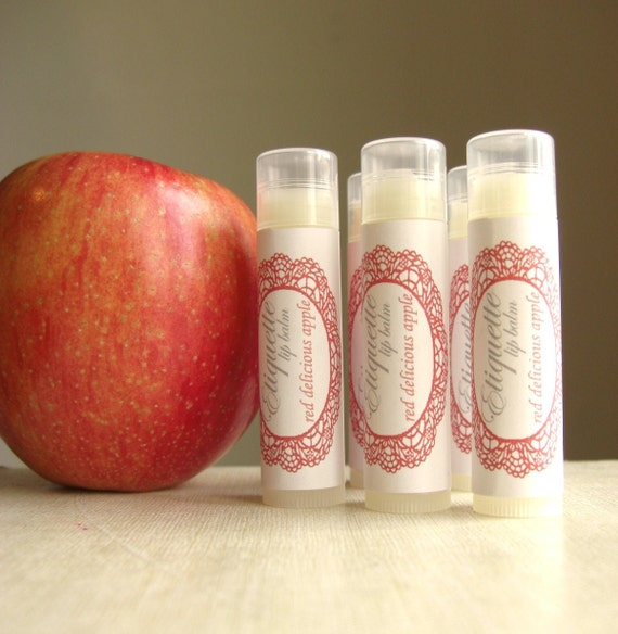 Apple lip balm Red Delicious Apple Lip Balm fall flavor sweet lip gloss