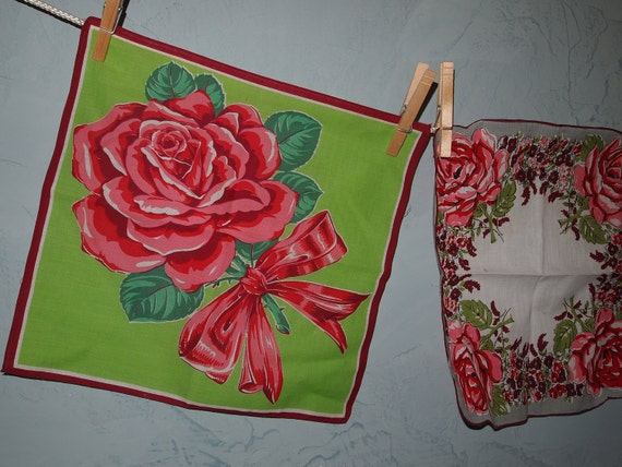 Vintage Roses Handkerchief Collection (4 Hankies)