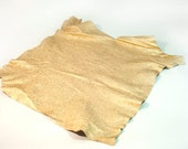 Leather hide clear gold metallic lambskin 4 ft square feet - light weight COD30