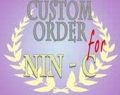 custom listing for Nin C