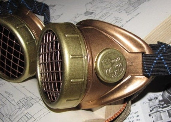 Steampunk Goggles - Copper with Brass