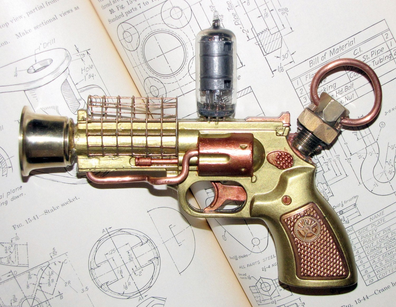 Real pussy steampunk vibrator gun