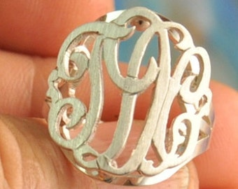 monogram ring 10KR1,10k yellow  gold . proudly hand made in USA.