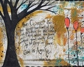 COURAGE 12 x 18 Print of Mixed Media Painting by Sunshine Barlowe