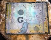 Gratitude 11 x 14 Print of Mixed Media Painting by Sunshine Barlowe