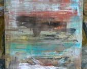 Wasting Light - 24 x 48  original abstract painting