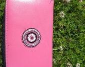 EKone Pink Leather Wallet
