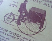 The Carry-All Tricycle Pennyfarthing Victorian Print Antique Reproduction from Curious London
