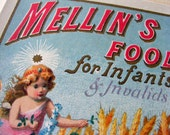 Mellins Food for Infants and Invalids Antique Advertisement Reproduction Print from Curious London